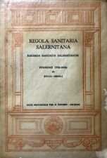 FULVIO GHERLI REGOLA SANITARIA SALERNITANA. REGIMEN SANITATIS SALERNITANUM 1964
