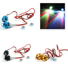 2x Motorcycle Turn Signal Indicator License Plate LED Colorful Bulb Bolt Lights