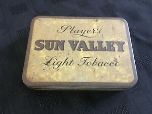 "A Rare Vintage ""Player's Sun Valley Light"" Hinged Tobacco Tin 2oz"