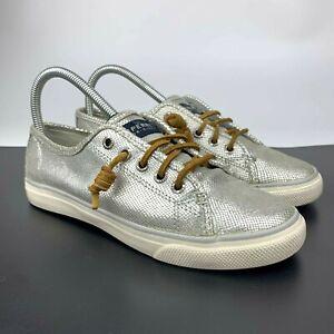 Sperry Top-Sider Women's Seacoast Sneakers Silver Glitter Size 7