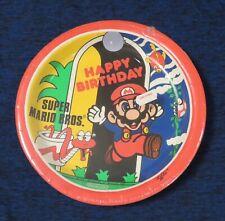 1989 Nintendo of America Inc Super Mario Bros. Paper Plates Still Sealed NES era