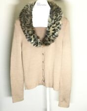 Kookai Faux Fur Trim Cardigan Made in France