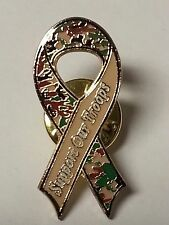 SUPPORT OUR TROOPS CAMO MILITARY RIBBON LAPEL PIN HAT TAC NEW