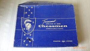 Vintage 1945 Staunton Pattern Tournament King Size Chess Pieces Lowe 3 1/8 Inch