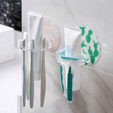 Wall Mounted Toothbrush Toothpaste Holder Adhesiv Self Organizer Rack Storage