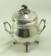 Christofle modèle Marly/Pompadour, de style Louis XV sucrier en métal argenté.