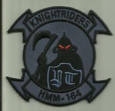 HMM-164 KNIGHTRIDERS USMC PATCH MARINE CORPS HELICOPTER SQ HELO PILOT AVIATION