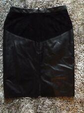 papaya  leather look skirt brand new size 10