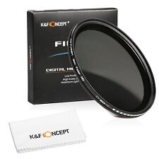 55mm HD Slim Fader ND Neutral Density Filter ND2 to ND400 Janpen Optical Glass