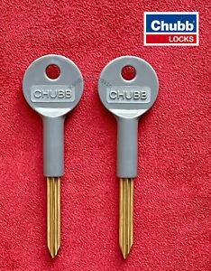 2 x Chubb Security Door & Window Rack Bolt Star Keys - Door Bolt Keys 8001