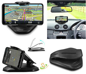 "Universal Dashboard Car Mount Holder Silicone Pad Clamshell Clip For Phone 3""-7"""