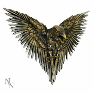 """""""Blade Raven"""" Resin Steampunk Wall Hanging Plaque Ornament 27cms"""