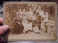 Ancienne Photographie Orchestre de Famille et ses Violonistes Fin XIXem