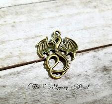 BULK Charms Dragon Charms Antiqued Bronze Fairy Tale Pendants Wholesale 25pcs