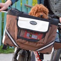Panier de Transport Portable pour Chien Chat sur Vélo Bicyclette / Voyage Sac
