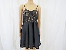 Xhilaration Junior Women Dress Size Small Lace Black Spaghetti Strap
