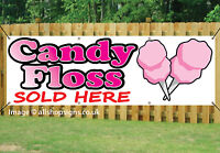 CANDY FLOSS SOLD HERE Printed BANNER OUTDOOR SIGN PVC with Eyelets 002