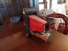 Antique KODAK No.3A Folding Pocket Camera MODEL B4 Red Bellows (AS/IS for Parts)