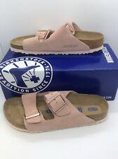 BIRKENSTOCK Women Arizona Rose Pink Suede Slides Sandal Shoes Sz 9 EU40 N ZB6-46