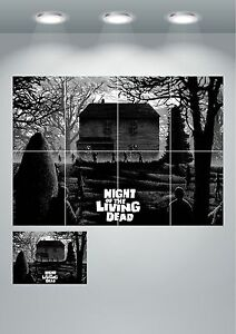 Night Of The Living Dead Zombie Movie Giant Wall Art poster Print