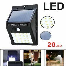 Solar Deck Lights 20 LED, Waterproof Outdoor Wireless Motion Sensor Light@