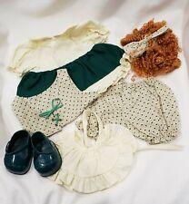 """Girl's St. Patrick's Irish Costume for 12"""" Bear or Doll Tender Heart Treasures"""