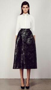 Alex Perry Brocade Midi Skirt - Black - Size 6