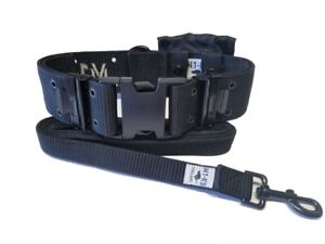"M1-K9 Big Military Dog Collar, Large Breed, 2.25"" Wide, Generation 3, BLACK"