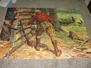 1930S JIGSAW PUZZLE SAALFIELD NO 2323 MORNING VISITORS 300 PIECE 16 BY 12