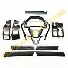 For Honda CRV 2007~2011 13Pcs Carbon Fiber Style Inner Molding Cover Trim j Kit