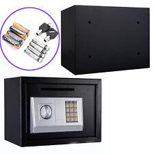 "Black 14"" Digital Depository Drop Cash Safe Security Gun Jewelry Home Box w/Lock"