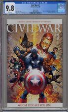 CIVIL WAR #1 CGC 9.8 MICHAEL TURNER VARIANT COVER