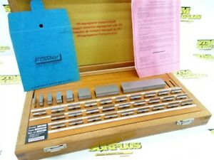 """CLEAN! COMPLETE FOWLER PRECISION SQUARE GAGE BLOCK SET .1001"""" TO 4"""""""