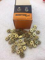 "BOSTON GEAR BRASS G226 SPUR PINION GEAR 16 PITCH 3/16"" BORE CLOCK TELESCOPE NOS"