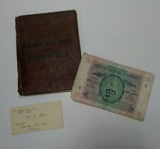 C.1940 Sunk H.m.s Patroclus Sailors id and pay book with bma note a series