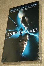 Unbreakable Vhs, New And Sealed, Rare, Bruce Willis, Samuel L. Jackson,Suspense!