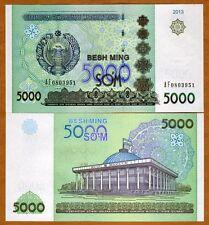 Uzbekistan, 5000 (5,000) Sum, 2013, Ex-Ussr, P-New, Unc