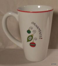 "Fitz and Floyd Essentials Merry Christmas Mug ""Ornaments""  5.25"""