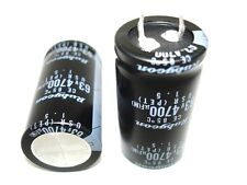 2pack 4700uf 63v 85c Rubycon Hi Fi Receiver Tuner Amp Amplifier Capacitors NEW