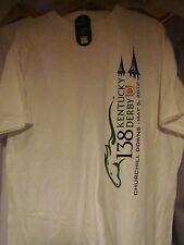 2012 KENTUCKY DERBY 138 WHITE  TEE SHIRT - XX-LARGE