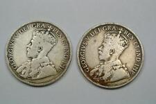 1911 & 1919 Newfoundland 50 Cents Coins - C1835