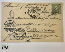 Postcard. Sent from Angola to Germany. Posted 1902.
