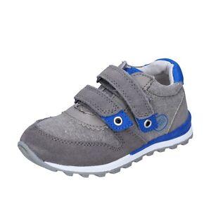 Jungen schuhe ENRICO COVERI 21 EU sneakers grau wildleder textil BJ975-21