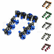 10Pcs 6mm Motorcycle Fairing Body Bolt Screw Spire Speed Fastener Clip Nuts