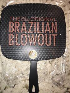 BRAZILIAN BLOWOUT BLACK HANDHELD MIRROR
