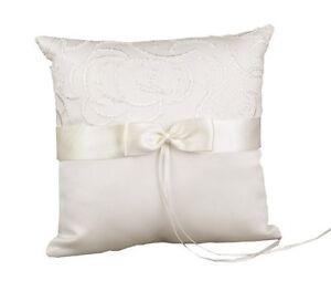 ivory satin ring bearer pillow wedding ringbearer pillow
