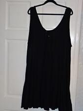 LADIES SIZE 22 M&S BEACHWEAR BLACK DRESS NWT