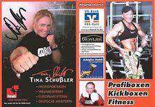 Autogramm Tina Schüssler Schüßler Weltmeisterin Boxen Profi Europameisterin DKMS