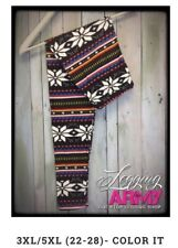 """Legging Army 3XL-5XL MuLti-Colored Leggings with Snowflake Print - """"Color It"""""""