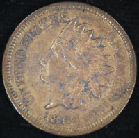 1864 Indian Head Cent, Bronze, Almost Uncirculated Details, Cleaned, C4675